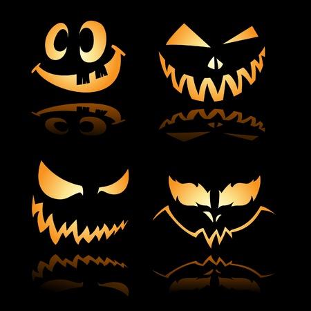 carved pumpkin: Glowing Smile