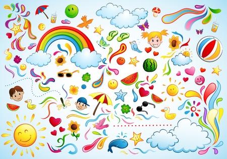 rainbow clouds: Fun Summer