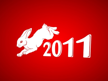 New Year of Rabbit Vector