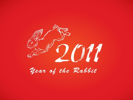 Year Of Rabbit Vector