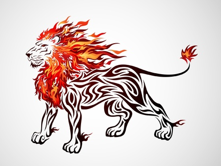 head of lion: Flame Lion