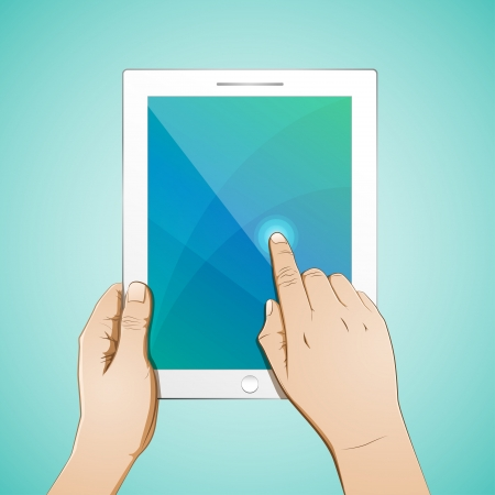 multi touch: Hand Touch 10 inch Tablet full color