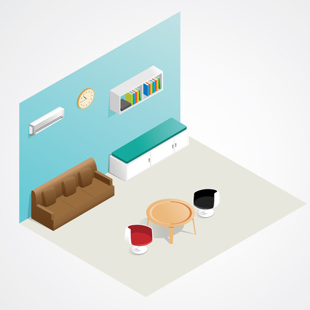 Isometric Interior Vector