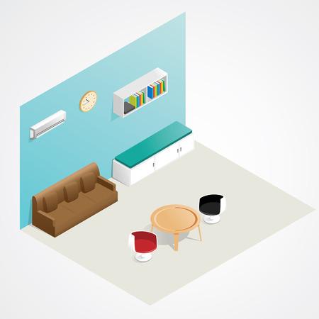 table set: Isometric Interior