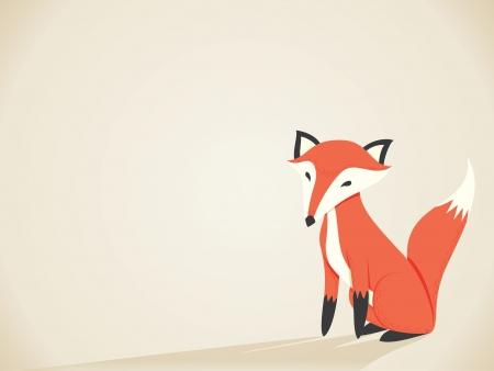 fox fur: Retro Fox