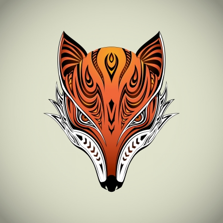 Tribal Fox Vector