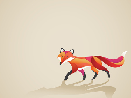 Colorful Fox Vector