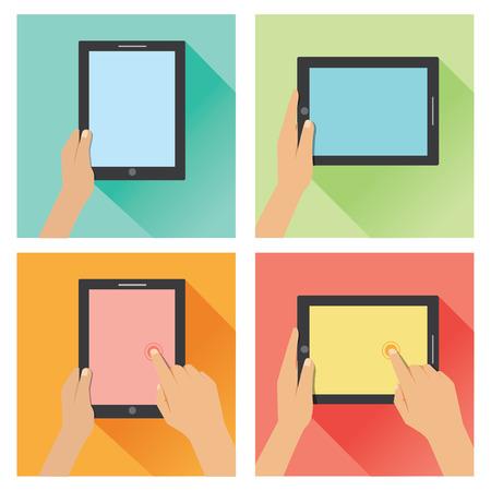 Vlakke hand op tablet 2
