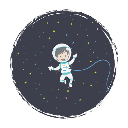 Space Boy Illustration