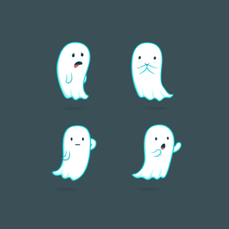 ghost character: Funny cartoon ghost character