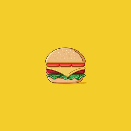 burger: Simple burger illustration Illustration
