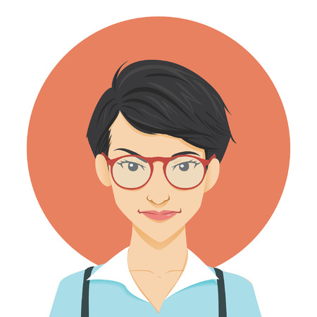 geeky: Modern geeky girl