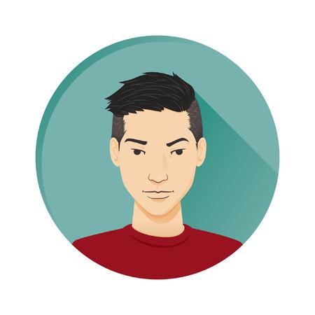 vector student: Modern Male avatar