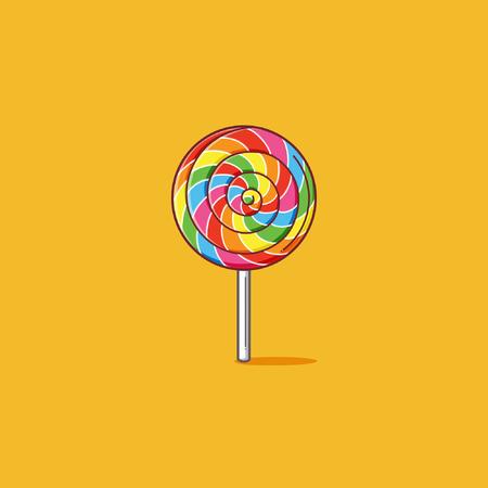 Rainbow lollipop Vectores