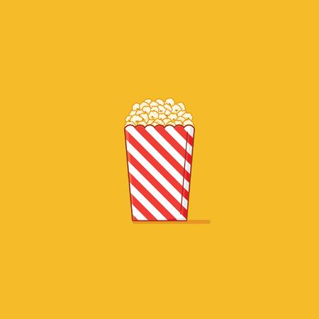 buttered: Simple popcorn Illustration