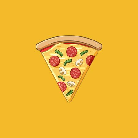 Simple pizza slice Çizim