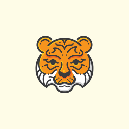 simple logo: Tiger line illustration Illustration