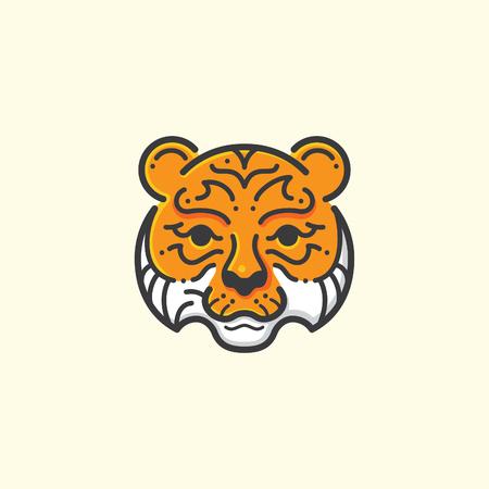 Tiger line illustration Çizim