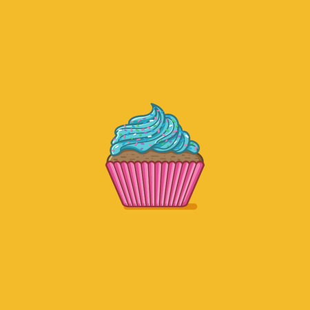 Cupcake vector illustration Illustration