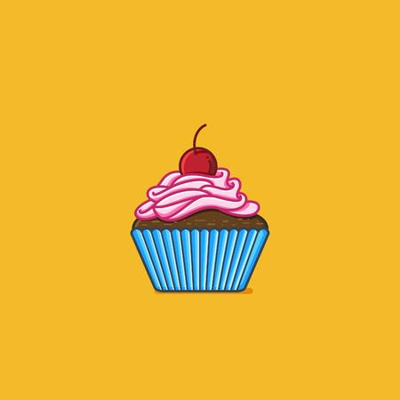 Cupcake vector illustration Çizim