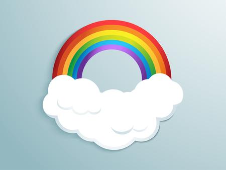 Rainbow in cloud Çizim