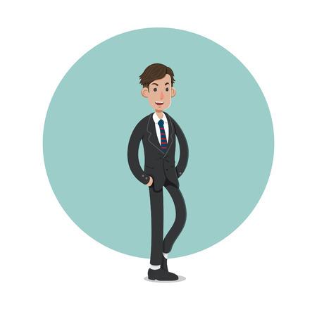 A businessman cartoon character