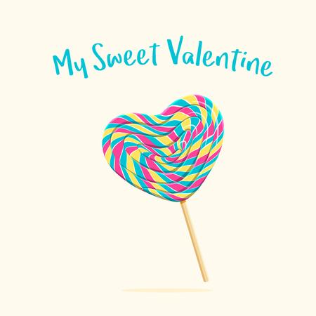 Heart shaped lollipop Çizim