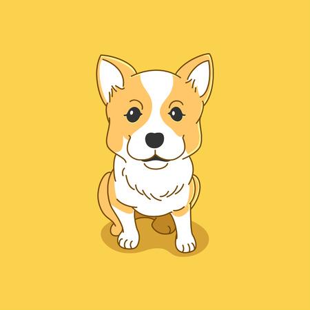 cute corgi illustration