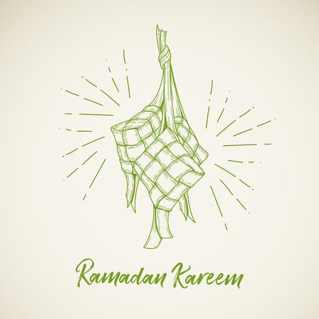 Ketupat vector illustration for ramadhan, eid al fitri