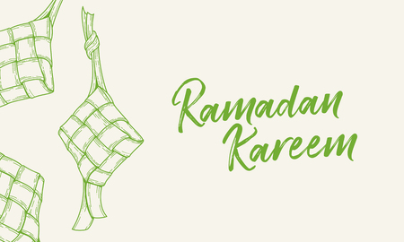 Ketupat vector illustration for ramadhan, eid al fitri