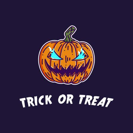 Halloween pumpkin jack o lantern illustration
