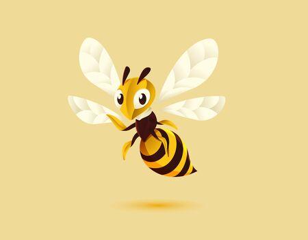 Bee Mascot illustration Çizim