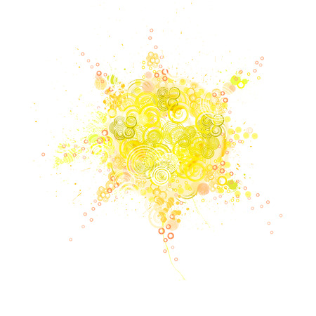 dabs: colorful sun painted circles and dabs