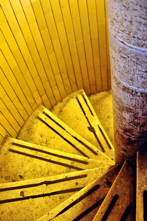 rung: spiral staircase in the building