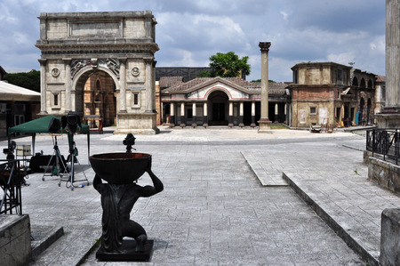 ROME, ITALY - MAY 31, 2014: scenery for making films at the studio Cinecitta on May 31, 2014 in Rome.  Editorial