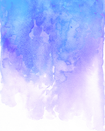 Watercolor blue and purple background flow. Light blue splash Stock Photo