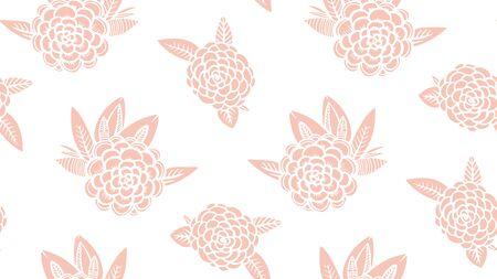 Seamless pattern Pink and white botanical element. Imagens