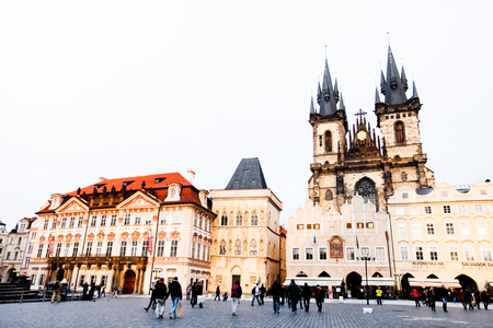 town square: The old town square in Prague, Czech Republic 1