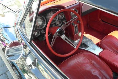 Old car interior photo