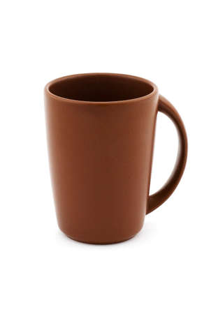 A brown ceramic cup for tea or coffee Stock Photo