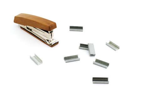 Isolated photo of stapler with some bars of staples
