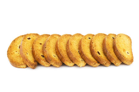 Isolated photo of several crispy and tasty crackers