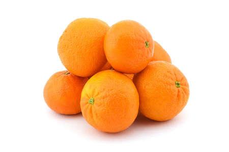 Isolatad photo of several sappy fresh mandarins