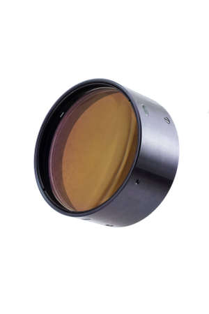 Isolated photo of the lens of some refractor