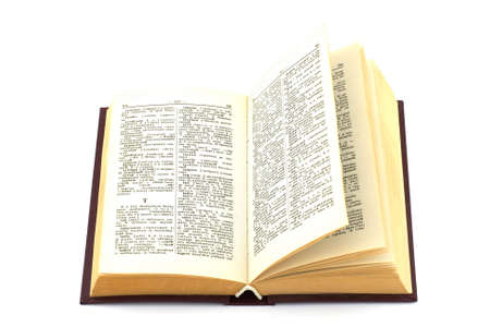 Isolated photo of an old russian to english dictionary.