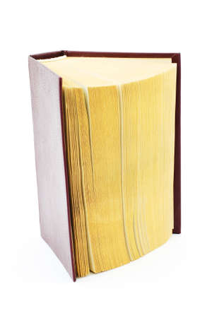 Isolated photo of an old brown book