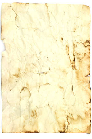 Isolated photo of ancient sheet of paper