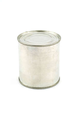 Isolated photo of a aluminum tin Stock Photo