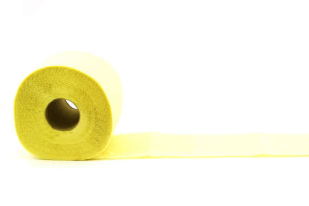 Isolated photo of roll of yellow toilet paper Stock Photo - 3055699