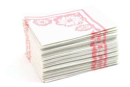 Isolated photo of a pack of napkins